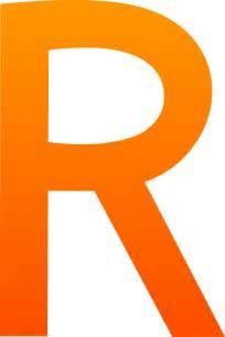 Letter R Art The letter r R
