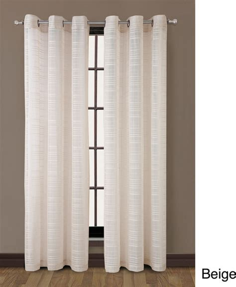modern grommet curtain panels clinton grommet top stripe 84 inch curtain panel