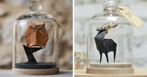 Origami Jars - artist found an amazing way to preserve origami by using