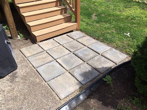 How To Make A Patio Out Of Pavers Installing Cement Pavers Everything Emelia