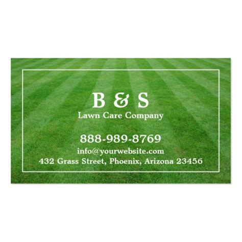 lawn care field grass business card zazzle