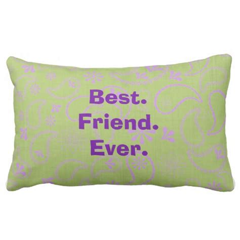 Pillow Best by Best Friend Pillow Zazzle
