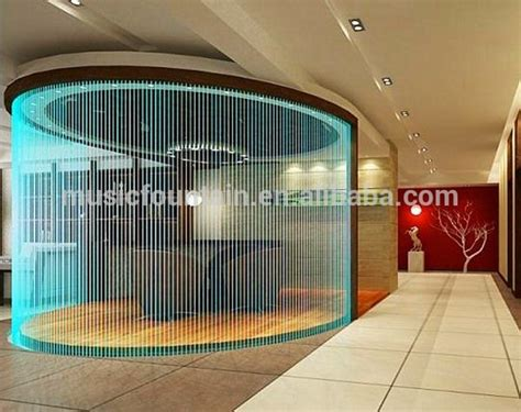 hotel decorative water curtain indoor artificial wall