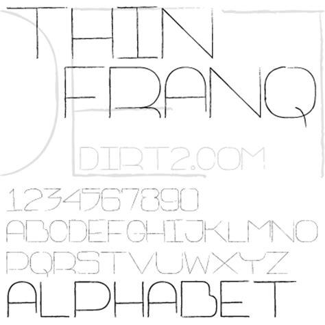 dafont thin fonts thin franq font dafont com