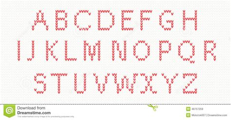 knitting pattern font christmas knitted font stock vector illustration of cold