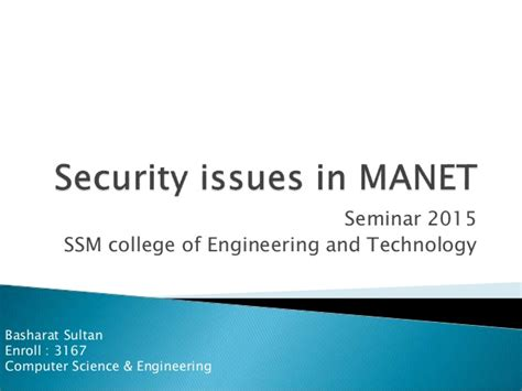 security issues in manet