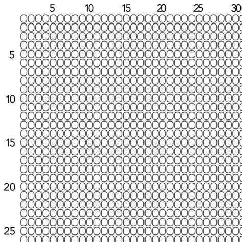 Printable Graph Paper For Beading | bead loom graph paper size 11 seed beads fusion beads