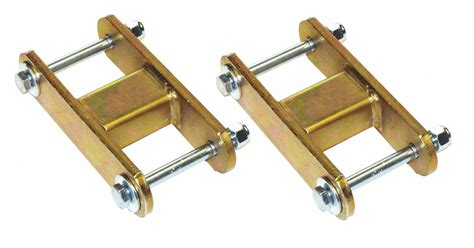 Jeep Yj Shackle Lift Warrior Products 0 Quot Lift Rear Leaf Shackle Kit For