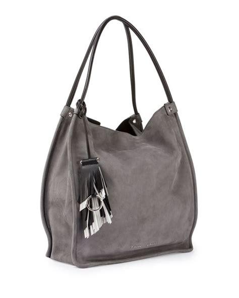 Jeanne Nubuck Medium Bag by Proenza Schouler Medium Nubuck Leather Tote Bag Gray