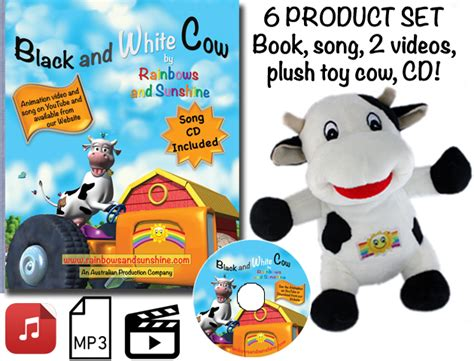 Playset Musik Hello Combination 4401 6 product set book cd soft plush cow 2 mp3 song rainbows and