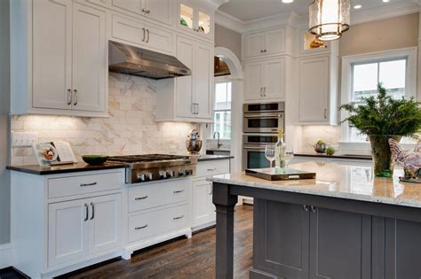 custom white kitchen cabinets stone wood design center photo page hgtv