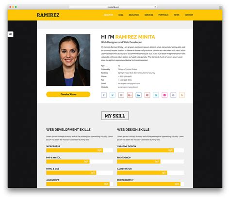24 Free Personal Website Templates To Boost Your Brand 2019 Colorlib Personal Website Templates