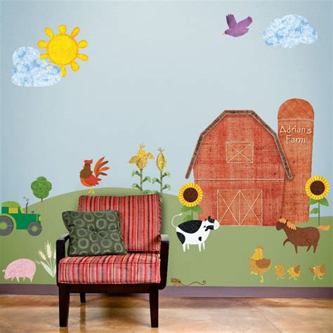 Farm Wall Mural my wonderful walls wall stickers murals and stencils