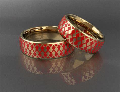 3d print model wedding rings with enamel cgtrader