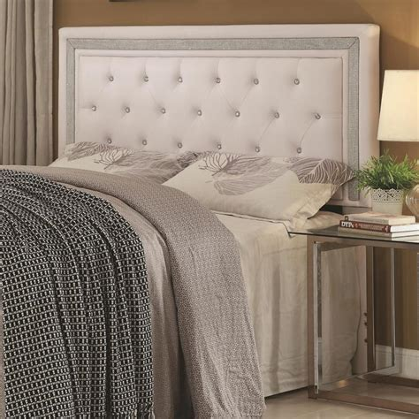 tufted headboard with crystal buttons crystal button headboard inside stella tufted white modern