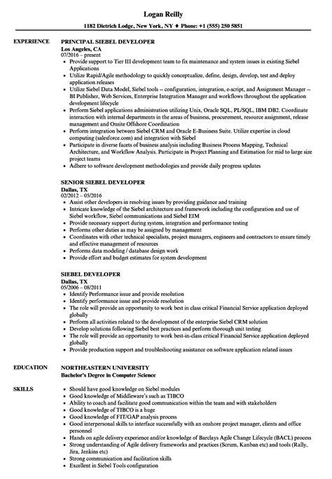 siebel administration sle resume siebel administration sle resume 18 types of essay with