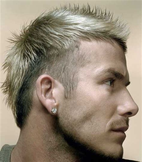 a short blonde hairstyle from the 2015 mens collection david beckham short spiky hairstyle male models picture