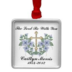 in loving memory remembrance christmas ornament zazzle