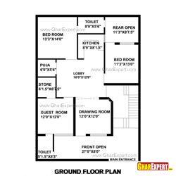 1 gaj in sq feet house plan for 35 feet by 50 feet plot plot size 195