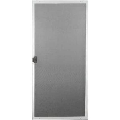 Patio Screen Door Home Depot by 30 In X 80 In White Patio Matic Screen Door Pat30wt