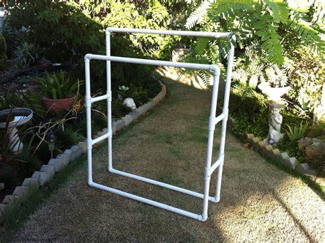 Pvc Pipe Rack by Pvc Pipe Clothes Rack Lakukan Sendiri