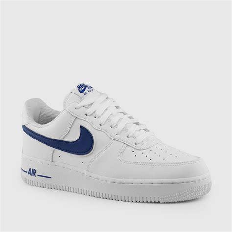 nike mens air force    lv white deep royal blue