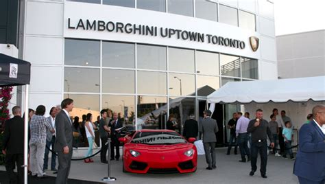 lamborghini dealership inside lamborghini uptown toronto officially opens canadian