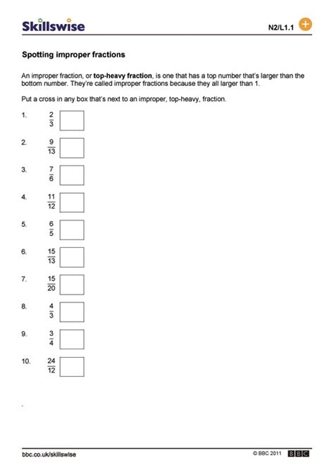 diagram for improper fractions improper and mixed fractions worksheets with pictures fifth grade improper fractions and mixed