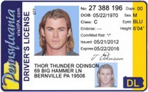 pennsylvania id card templat novelty drivers license id viking