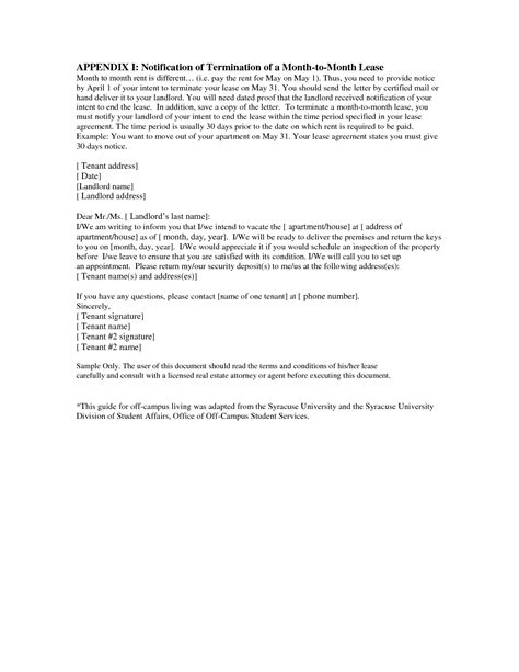 lease termination letter penn working papers