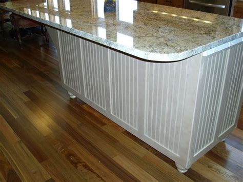 kitchen island painted beadboard cabinets
