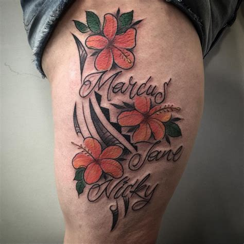 cute flower tattoo designs hawaiian flower tattoos