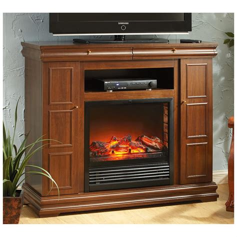 fireplace storage castlecreek side storage remote media center electric