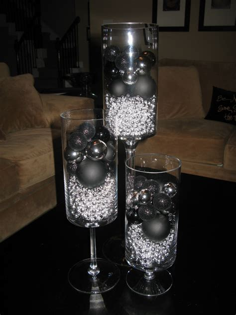 silver centerpieces for table 17 best images about black and silver christmas