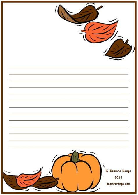 fall writing template fall themed writing paper best free home design idea