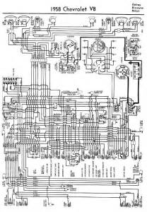 electrical wiring diagram for 1958 chevrolet v8 delray