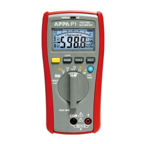 appa p series multimeters appa p1 appa technology