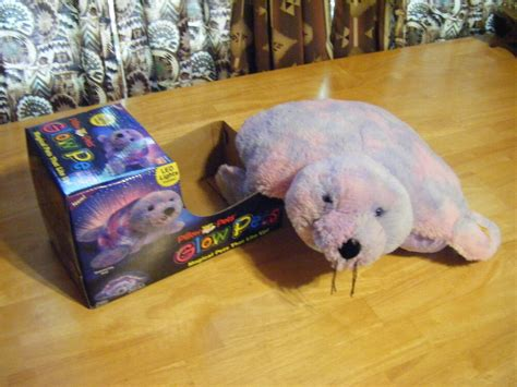 pillow pets seal boys new shimmering seal 16 quot lites up magical glow