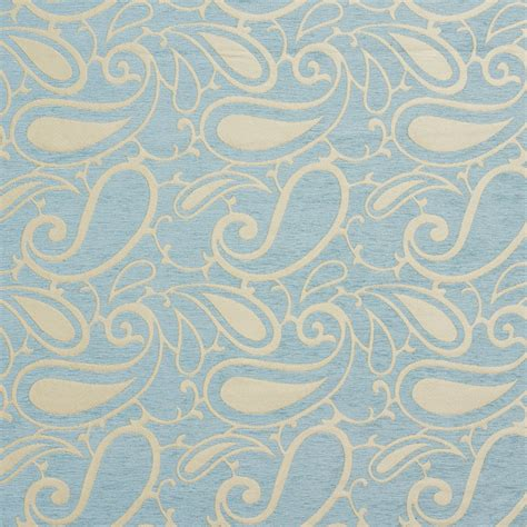 Blue Paisley Upholstery Fabric by B0800d Aqua Light Blue Woven Paisley Chenille Upholstery