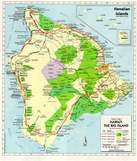 printable road map of big island hawaii hawaii big island map road