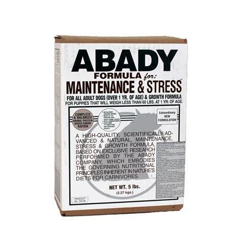 abady food abady formula for maintenance stress maximum k9 service