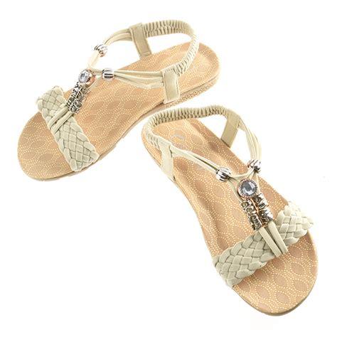 Flatahoes Fashion Import fashion summer bohemia flat shoes sandals slippers flip flops new ebay