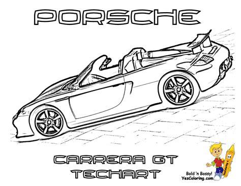 Gusto Car Coloring Pages Porsche Corvette Free Porsche Coloring Pages