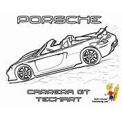 Porsche Carrera Gt Coloring Pages