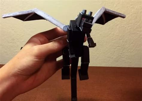 Minecraft Papercraft Enderdragon - papermau minecraft bendable ender paper model