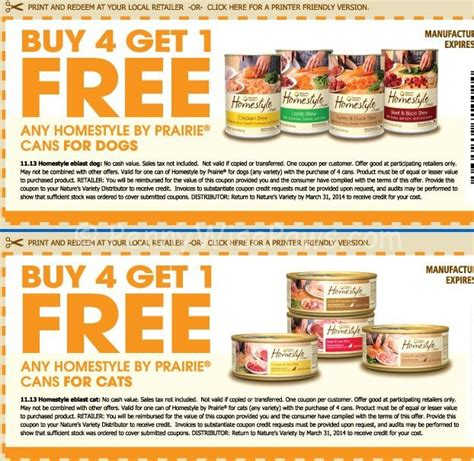 printable dog food coupons nature s variety dog food just 1 12 can at petco