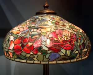 antique shade with stained glass