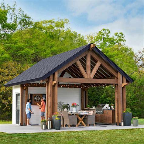 pavilion shed plans   build  shed diy