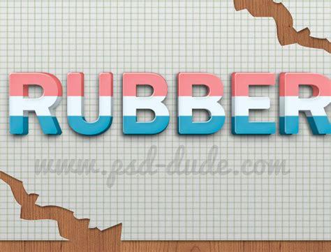 rubber st font photoshop eraser photoshop text effect photoshop tutorial psddude