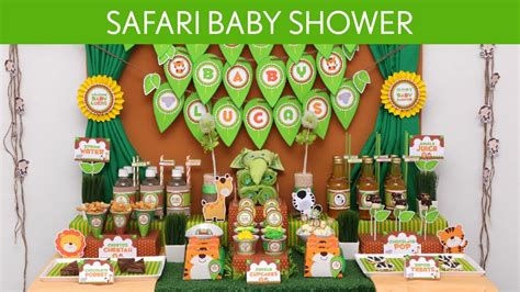 safari themed decorations for baby shower safari baby shower ideas safari s10 doovi